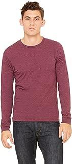 Bella + Canvas Unisex Jersey Long-Sleeve T-Shirt - Maroon Triblend - L - (Style # 3501 - Original Label)