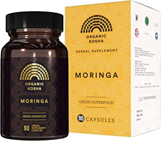 Sponsored Ad - Organic Kosha's Moringa Capsules, High-Potency, Forest Grown All-Natural Green Superfood Supplement for Nut...