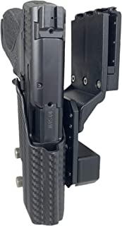 Professional Competition Holster OWB Kydex fits Smith & Wesson M&P 9, M&P 40 IPSC, USPSA, 3-Gun Approved, Adjustable in All Angles and Retention, Completely Legal in USPSA Production Division