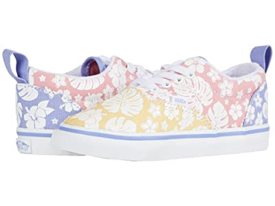 Vans Kids Era Elastic Lace (Infant/Toddler) ((Hawaiian Floral) Multi/True White) Girls Shoes