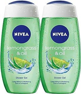 NIVEA Lemon grass and oil Body Bath Shower Care Gel Wash Set for Women Men Dry Skin Eczema Combo Offer Pack of 2 x 250 ml