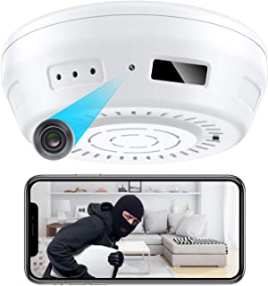 Hidden Camera Smoke Detector WiFi - Nanny Cams Wireless with Cell Phone App - 180 Days Battery Power, Night Vision, Motion...