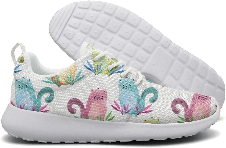 Cute Cartoon Cats Womens Flex Mesh Casual shoes