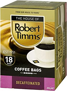 The House of Robert Timms Decaffeinated Coffee Bags, 105 g