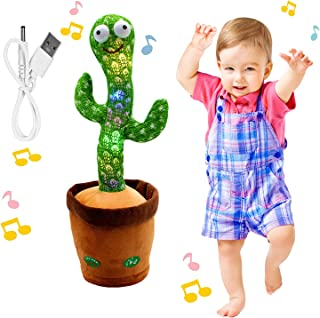 """Dancing Cactus Toy, BLUELAND Electric, Shaking, Recording, Singing, Talking toys, """"Repeat your speech"""" Plush Stuffed Gift ..."""