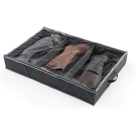 Compactor, Sac de Rangement Extra Plat pour Bottes avec Poignée, 3 Compartiments, Noir et Gris, Dimensions: 90.0x60.0xH15.0 cm, RAN7428