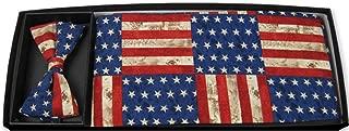 American Rustic Flag Tuxedo Cummerbund and Bow Tie