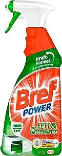 Bref Power gegen Fett und Eingebranntes, Fettlöser, 750 ml Sprühflasche, für Küche, Kamin und Ofen