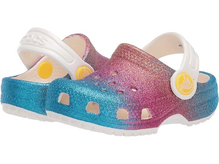 Crocs Kids Classic Ombre Glitter Clog