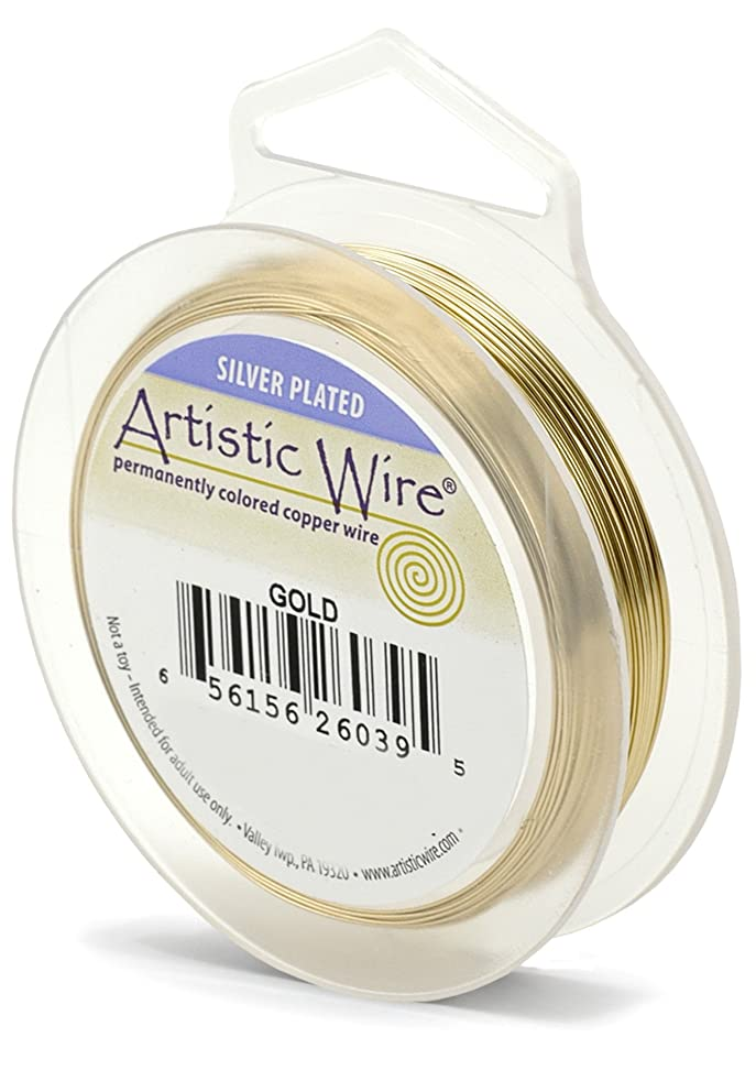 Artistic Wire AWS-20S-03-25FT 20 Gauge Wire, Gold Color, 25-Feet