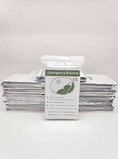 Emergency Blanket Portable lifesaving Blanket Silver Survival Blanket Emergency First aid Blanket 10pcs (10)