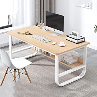 Computer Desk With Bookshelf,Study Table Workstation For Home Office Furniture,Office Table Writing Desk,Wood And Metal Fr...