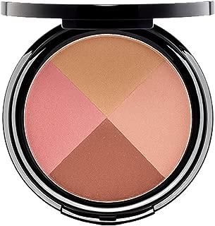 EVE PEARL Ultimate Face Compact Blush Bronzer Highlighter Contour Palette Eyeshadow Makeup Set Medium to Deep- Ageless
