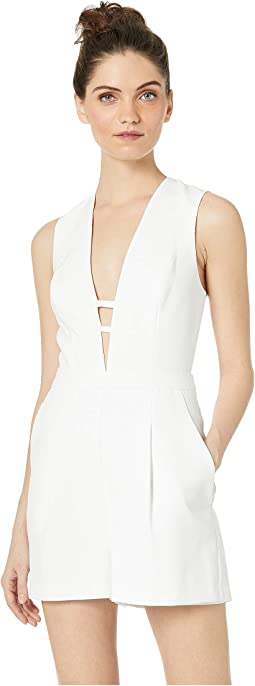 V-Neck Cut Out Jumpsuit