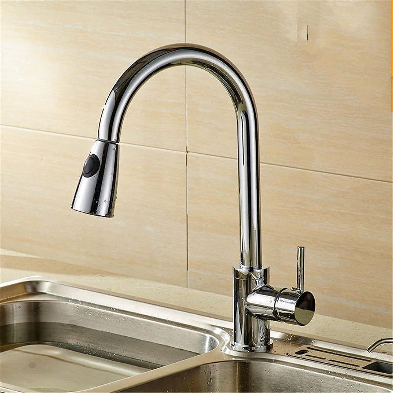Gyps Faucet Waschtisch-Einhebelmischer Waschtischarmatur BadarmaturDas Kupfer Küche Teller Waschbecken an Kalten und Warmen Ziehen die Tap die Skalierung zu Drehen-Leitung - Tippen Sie auf Eine