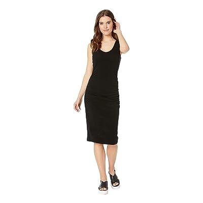 Michael Stars Cora Pebble Knit Sleeveless Ruched Dress (Black) Women