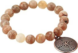 Labyrinth Meditation Gemstone Beaded Bracelet