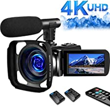 SAULEOO 4K Video Camera Camcorder Digital YouTube...