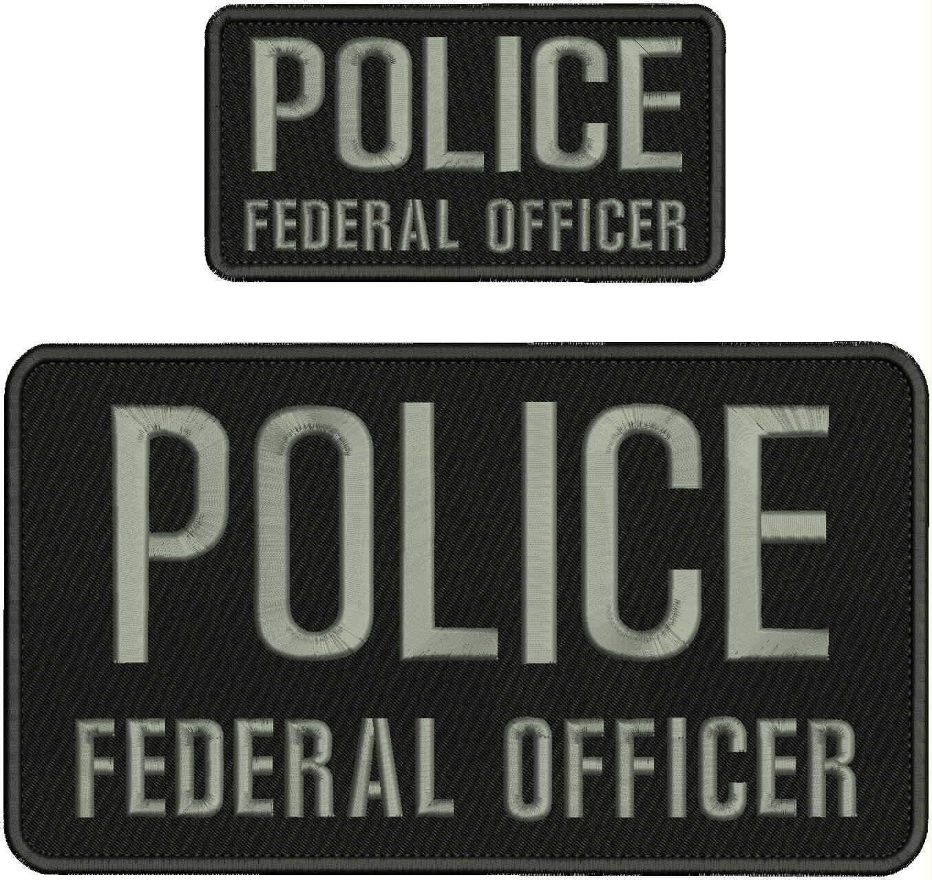 Embroidered Patch - Patches for Women Max 40% OFF Cheap Sale 76% OFF Man Federal Offic Police