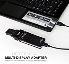 Wavlink USB 2.0 to DVI/VGA/HDMI Multi-Screen Display Card External HD Expansion Converter Split Screen Display 6-Screen.