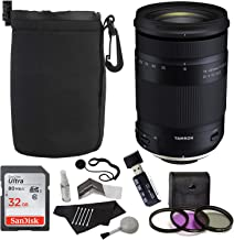 Tamron 18-400mm F/3.5-6.3 DI-II VC HLD All-in-One Zoom (6 Year Limited USA Warranty) for Canon APS-C Digital SLR Cameras, Sandisk 32GB, TruDigita Filter Kit, Lens Pouch, and Accessory Bundle
