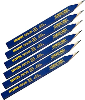 IRWIN Carpenter Pencil, Medium Lead, 6-Piece (66400)