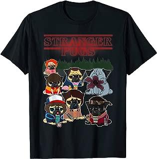 Funny Stranger Pugs Things T-shirt for Men, Women