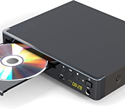 Region Free DVD Player for TV, LONPOO Compact DVD CD Player with HDMI & AV Output, HD 1080P Supported, Built-in PAL / NTSC...