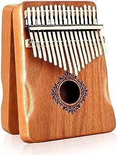 AMERTEER Kalimba Thumb Piano 17 Keys with Mahogany Wood,Mbira,Finger Piano Builts-in Waterproof Protective Box, Easy to Le...