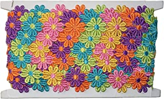 Guipure Multi-coloured 12mm Daisy Lace Pack of 1m