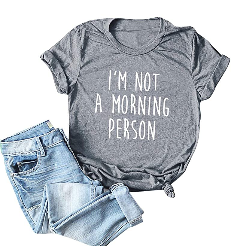 LuluZanm Letter Print T-Shirt for Women Sale?? Ladies Fashion O-Neck Short Sleeve Blouses Basic Summer Tops Plus S-5XL