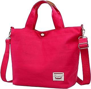 TREVIO Women Canvas Commodious Shoulder Bag Casual Tote Bag, Cross Body Handbag Adjustable shoulder strap