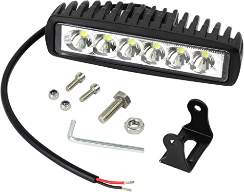 Justech 18W LED Projecteur de Travail 12V 24V LED Lumière de Travail Étanche Bar Poutre Lampe Élancée pour Bateau Cam...