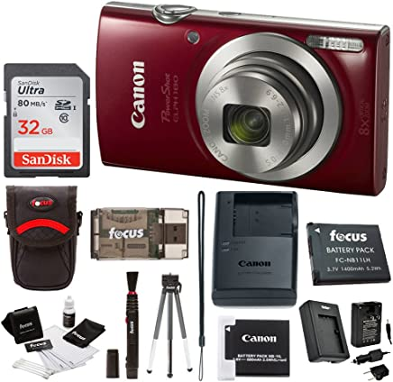 Canon PowerShot ELPH 180 20 MP Digital Camera (Red) +...