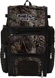 Boombah Superpack Bat Pack -Backpack Version (no Wheels) - Holds 2 Bats - Ink Real Camo Series - Multiple Color Options - for Baseball or Softball