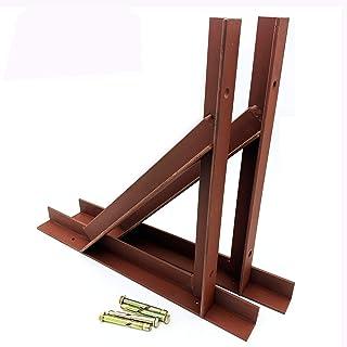 2 x väggmonterade hyllkonsoler tunga stål skorsten galler fäste stöd vinkelfästning 90 graders L-form bokhylla konsol flyt...