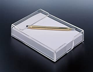Holiday Gift - Acrylic Design Notepad Paper Holder, With Bonus Paper Included!! Modern Office Supplies. By Mega Stationers