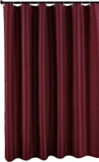 Best burgundy fabric shower curtain Reviews