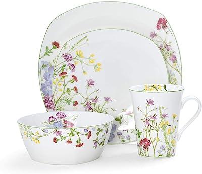 Mikasa Wildflower Garden 16-Piece Dinnerware Set, Assorted