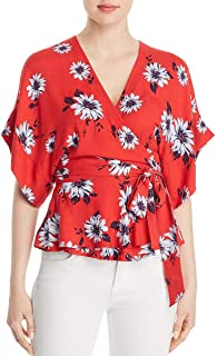 Womens Floral Short Sleeves Blouse