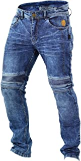 Trilobite Micas Urban Motorfiets Jeans Mannen in Moderne Slim Fit, Blauw gewassen, Maat 30 US
