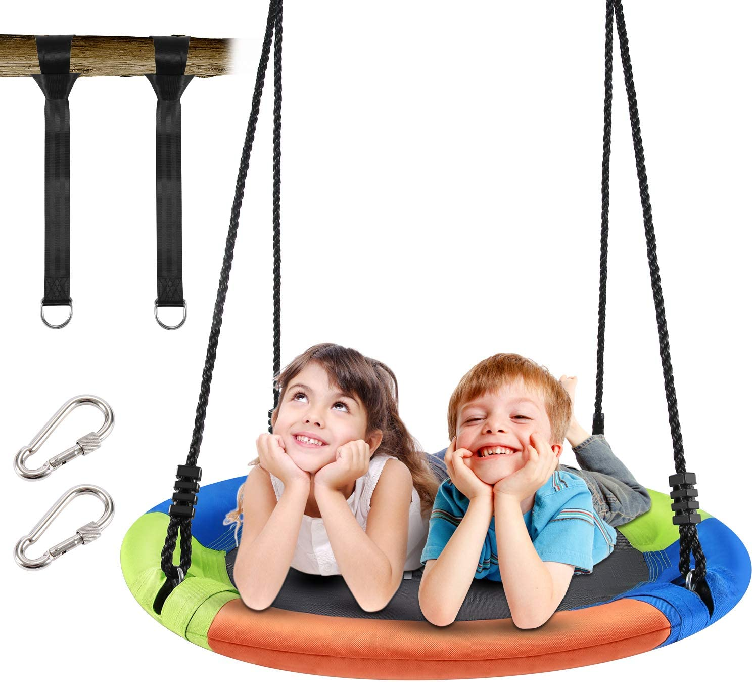 CAROMA 40 Inch Saucer Tree Swing for Kids Adults and Teens, with