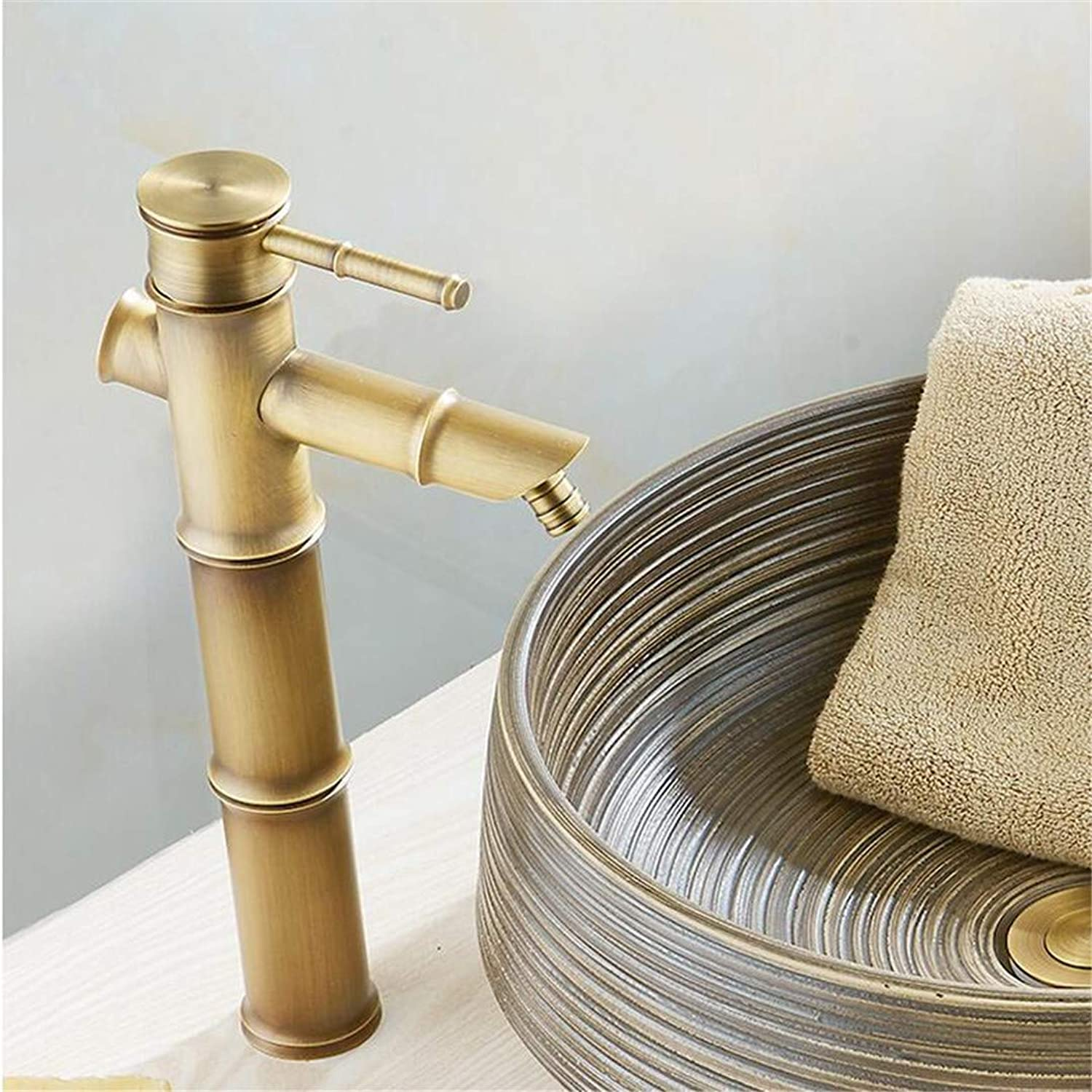 Basin Faucet Basin Vintage Mixer Taps Antique Brass Water Tap Hot and Cold