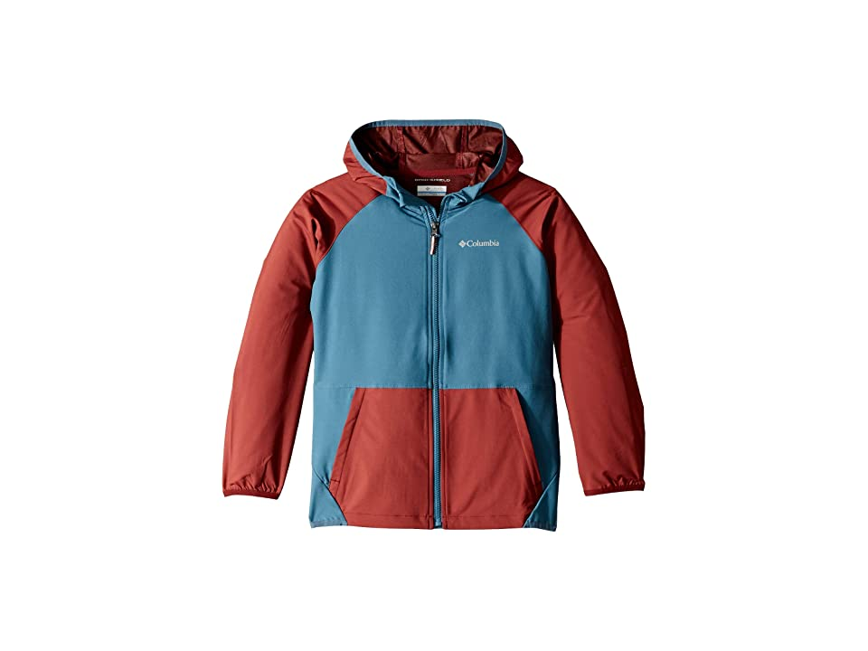 Columbia Kids Hidden Canyontm Softshell Jacket (Little Kids/Big Kids) (Tapestry/Blue Heron) Boy