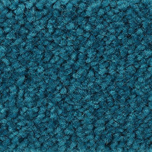 BODENMEISTER BM72182 Teppichboden Auslegware Meterware Hochflor Shaggy Langflor Velour türkis blau 400 cm und 500 cm breit, verschiedene Längen, Variante: 4 x 5 m