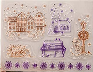 Tampons en silicone transparents, flocons de neige de Noël en silicone transparent pour scrapbooking, scrapbooking, scrapb...