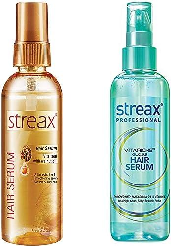 Streax Hair Serum, 100ml and Streax Pro Hair Serum Vita Gloss, 100ml product image