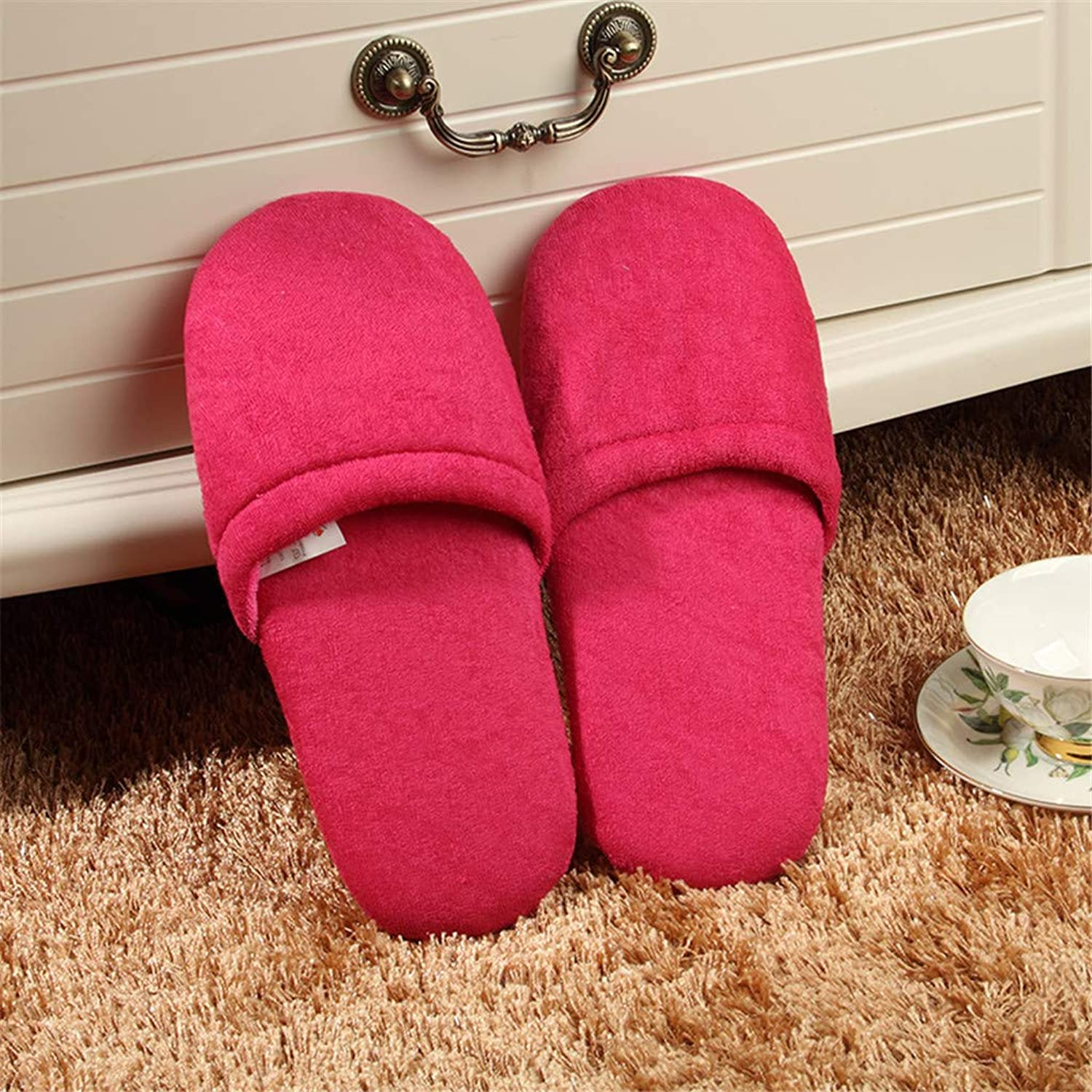 10 Pairs, Non-Slip Spa Guest Slippers Home Hospitality Floor colorful Soft Bread Slippers,010