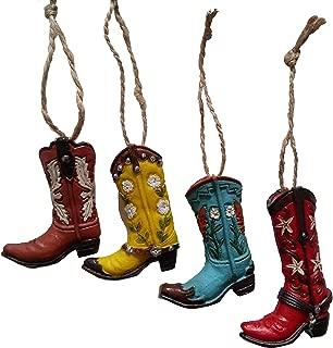S.Star Resin Cowboy Boot Ornaments - 2.5