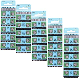 10/20/50Pcs AG13 Dedicated Battery Version 0% for Button Cell Battery Use Watch Toys Remotes Remotes (50 Pcs)